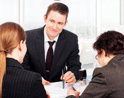 professionals talking