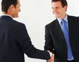 men shaking their hands